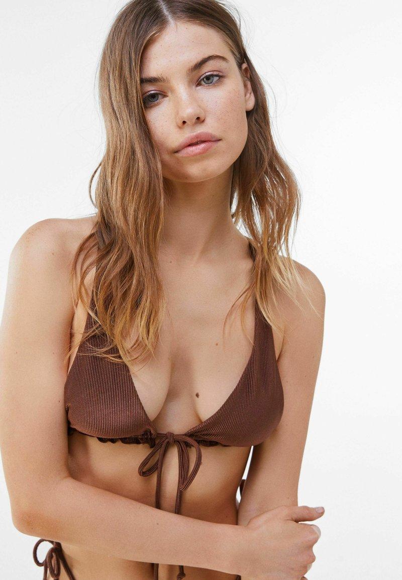 Bershka - Góra od bikini - brown