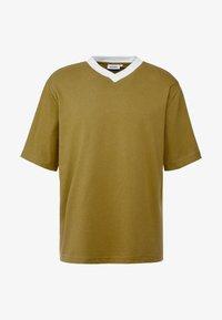 Weekday - FRANS V-NECK - Jednoduché triko - khaki - 3