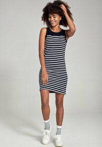 Armor lux - BELLE-ILE - Jersey dress - rich navy/blanc - 1