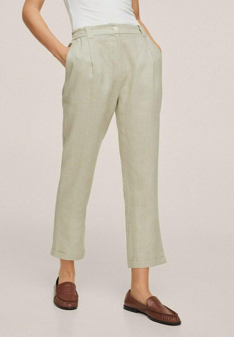 Mango - Trousers - vert pastel