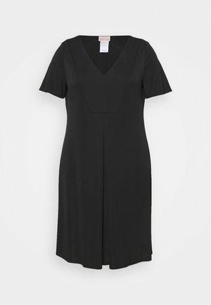 ORTENSIA - Vestito di maglina - black