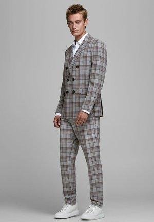 ELEGANTE KARIERTE - Suit trousers - grey melange
