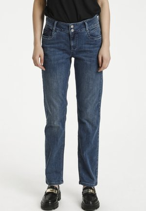Jeans straight leg - medium blue vintage wash