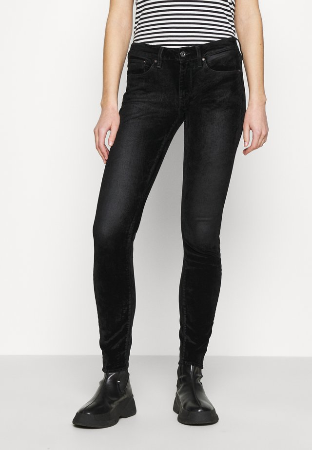 3301 MID SKINNY WMN - Jeans Skinny Fit - black iced
