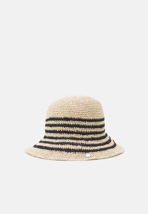 STRIPE CROCHT BUCKET - Kapelusz - natural/black