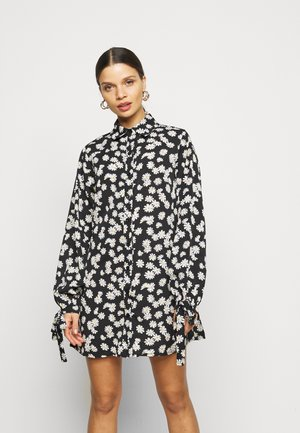 TIE CUFF  - Shirt dress - black
