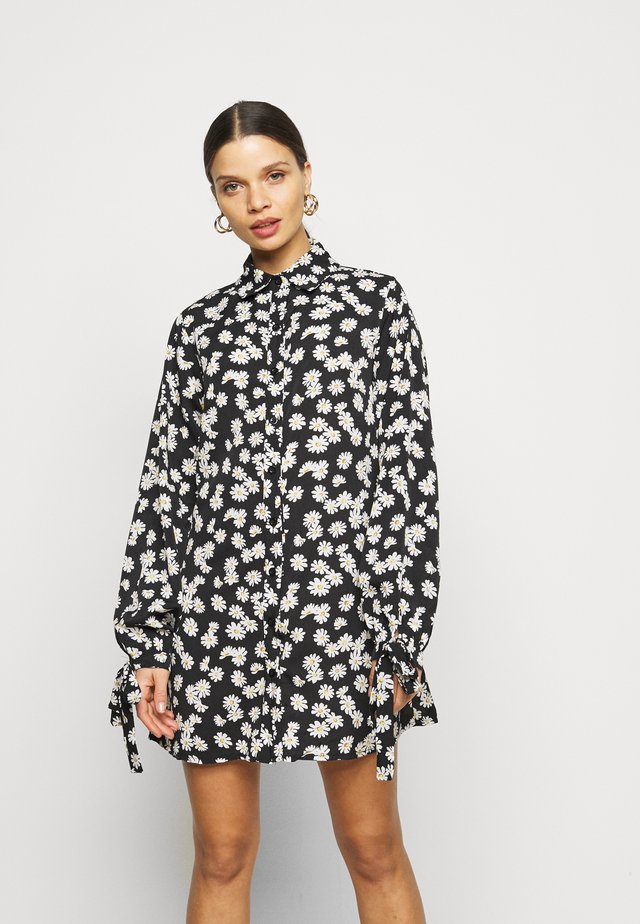 TIE CUFF  - Robe chemise - black