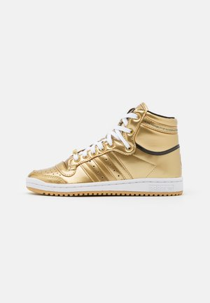 TOP TEN SPORTS INSPIRED MID SHOES UNISEX - Vysoké tenisky - gold metallic/footwear white