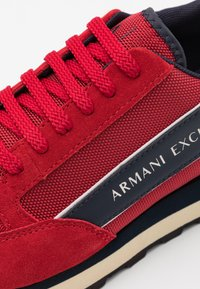 Armani Exchange - OSAKA  - Sneakers laag - fire brick/navy/offwhite - 5