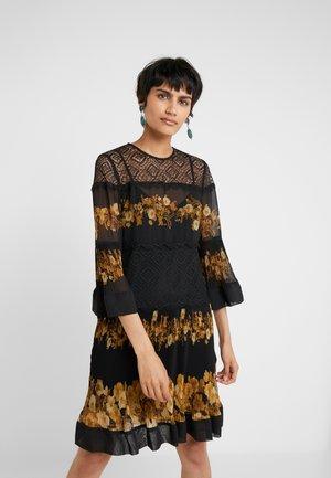 ABITO STAMPATO  - Cocktail dress / Party dress - patch fiore barocco nero