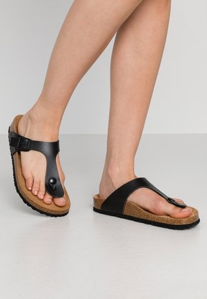 TAMARIS ZEHENTRENNER - T-bar sandals - black