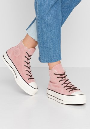 CHUCK TAYLOR ALL STAR LIFT - High-top trainers - rust pink/egret/black
