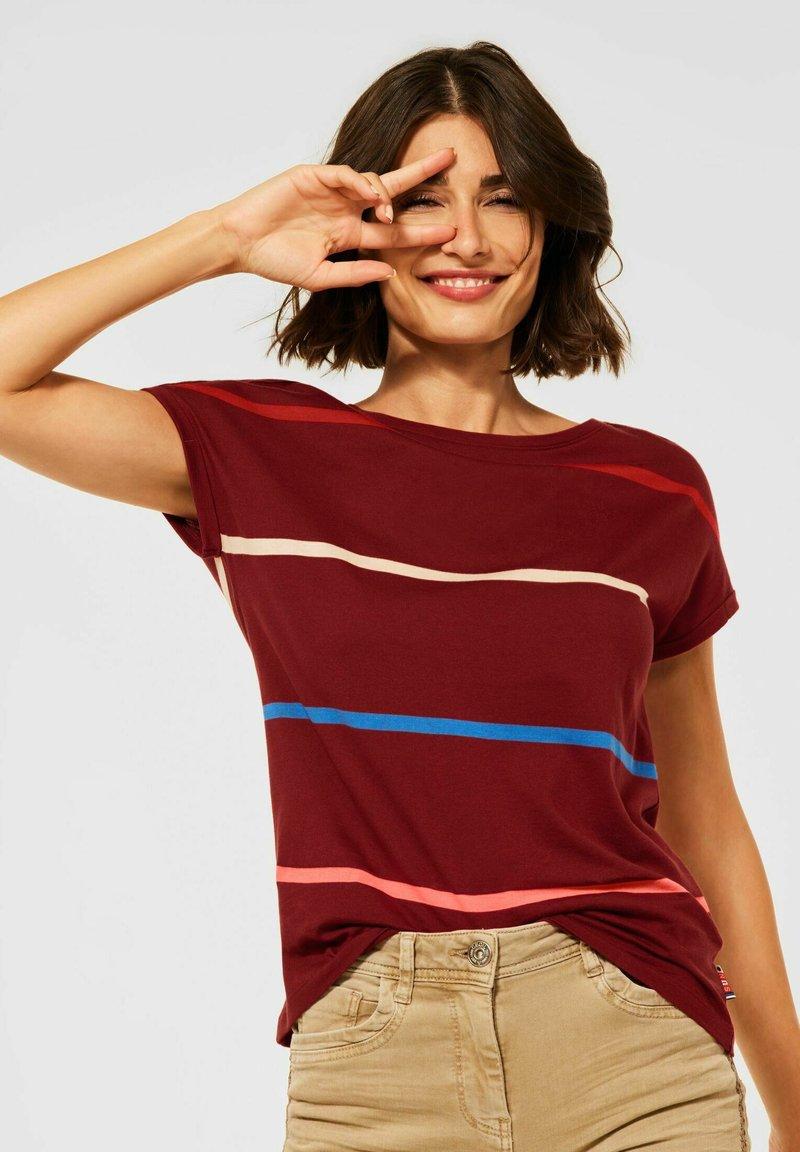 Cecil - MIT STREIFEN - Print T-shirt - braun