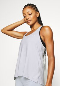 Under Armour - KNOCKOUT TANK - T-shirt de sport - halo gray - 3