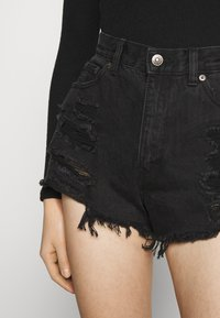PULL&BEAR - Szorty jeansowe - black - 6