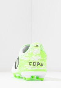 adidas Performance - COPA 20.3 FG - Korki Lanki - footwear white/core black/signal green - 4