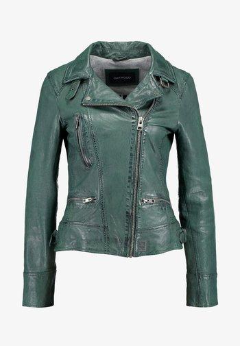 VIDEO - Leather jacket - bronze