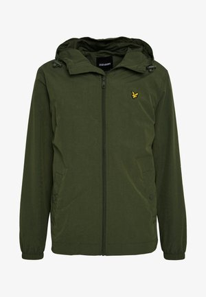 ZIP THROUGH HOODED JACKET - Lehká bunda - lichen green
