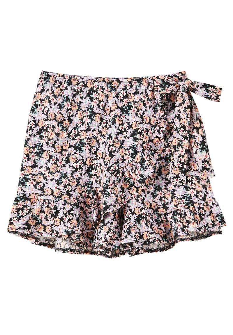 PULL&BEAR - PRINT UND VOLANTS - Shorts - purple