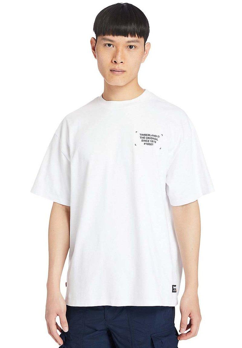 Timberland - WORKWEAR - T-shirt med print - white