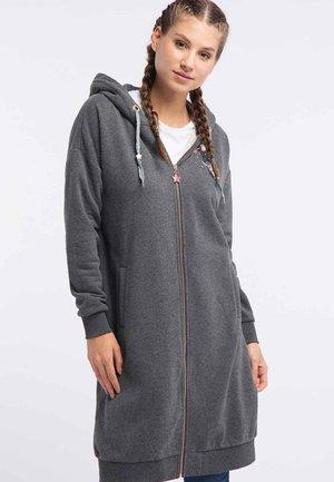 Zip-up hoodie - anthracite melange