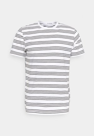 SLHTYLER O NECK TEE - Print T-shirt - white/black