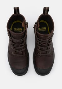 Palladium - PAMPA ZIP - Šněrovací kotníkové boty - bison - 3