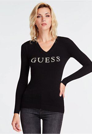 V NECK EMILIA - Sweatshirt - black