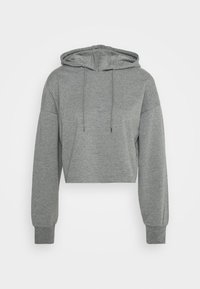 Even&Odd - BASIC - Cropped Hoodie - Hoodie - mottled grey - 4
