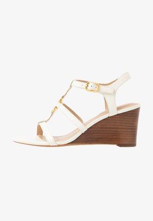 CHARLTON CASUAL WEDGE - Wedge sandals - vanilla