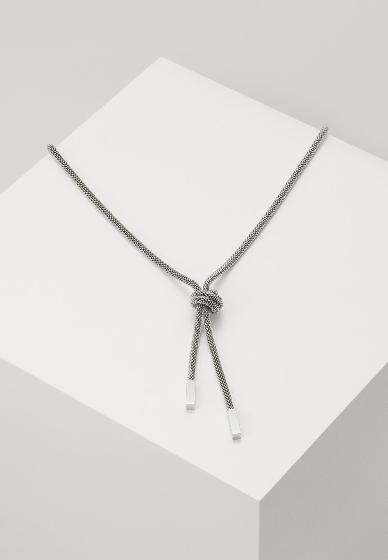 BOSS - ROSETTE - Necklace - silver-coloured