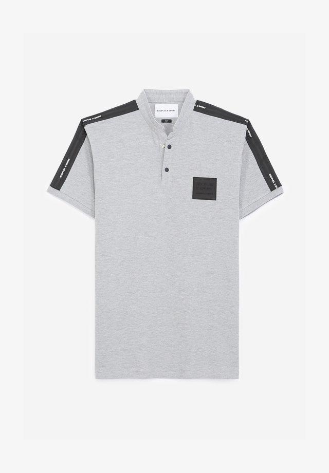 COL OFFICIER PATCH LOGO - Polo shirt - light grey melange