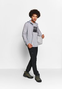 Salomon - AGILE GRAPHIC TEE  - T-Shirt print - alloy/heather - 1