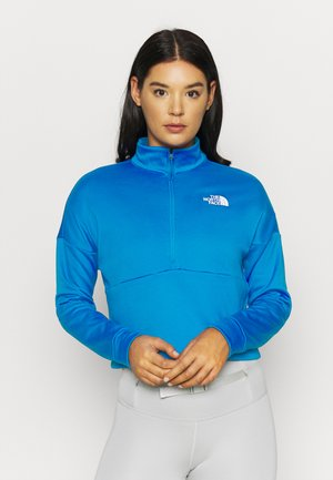 W ACTIVE TRAIL MW 1/4 ZIP - Sweatshirts - bomber blue