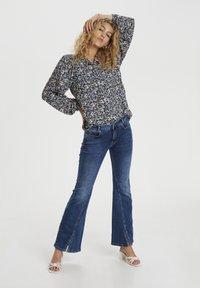 Denim Hunter - Button-down blouse - total eclipse flora print - 1