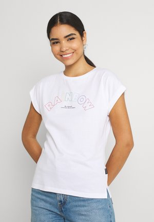 VISBY RAINBOW LINE - Print T-shirt - white