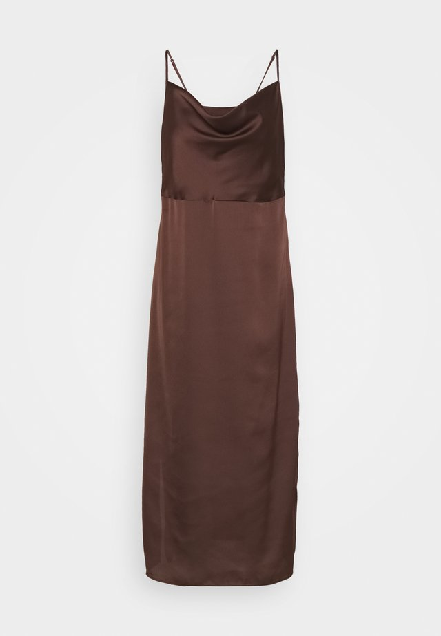 CAMI COWL SLIP DRESS - Cocktail dress / Party dress - chocolate