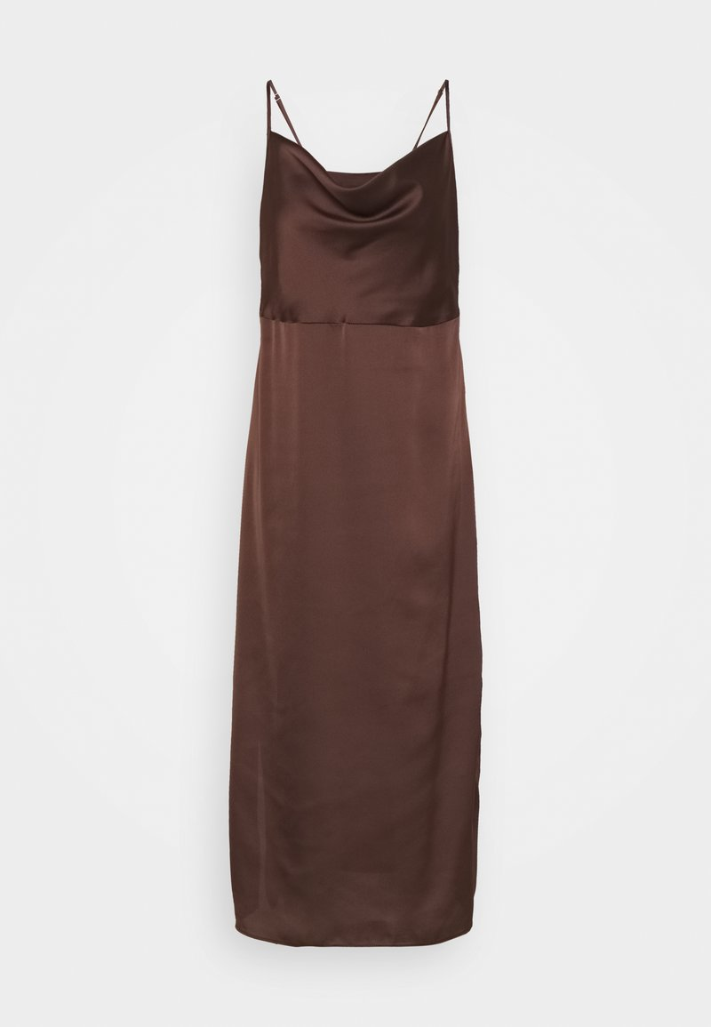 Missguided Tall - CAMI COWL SLIP DRESS - Cocktail dress / Party dress - chocolate
