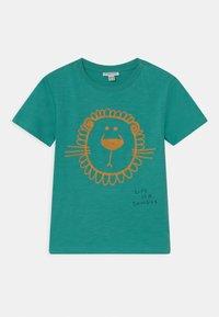 OVS - 3D EYES 2 PACK - Print T-shirt - snow white/peacock green - 2