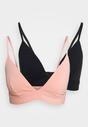 2 PACK - Triangel BH - pink/black