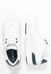 Lacoste - T-CLIP - Sneakersy niskie - white/dark green - 1