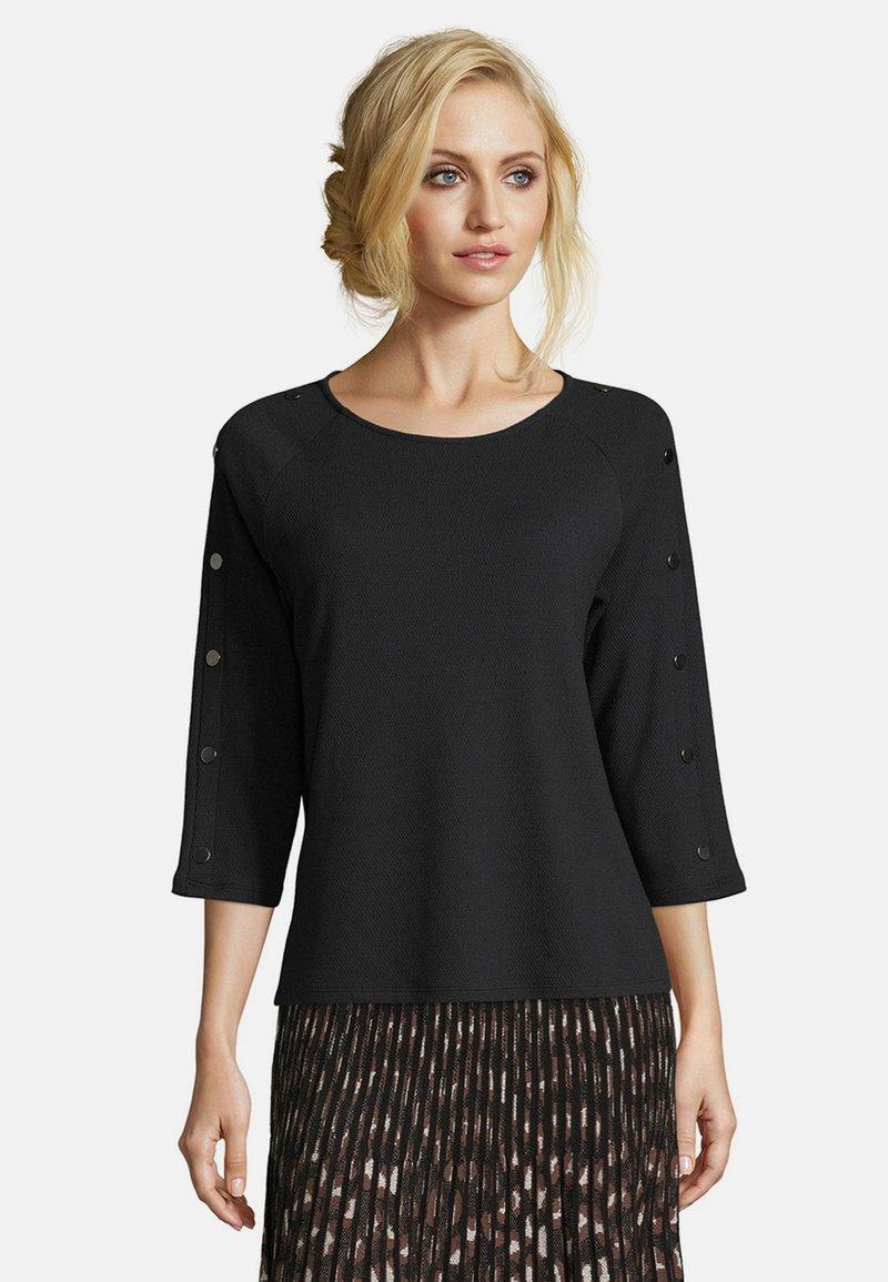 Betty Barclay - MIT KNOPFLEISTE - Sweatshirt - schwarz