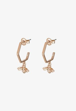 BEDZA BUMBLE BEE HOOP EARRING - Earrings - rose gold-coloured