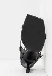 Dune London - MONTEREY  - Sandály na vysokém podpatku - black - 6