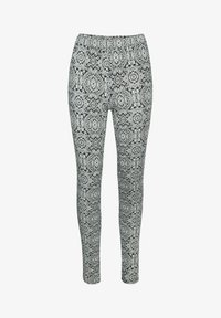 Kaffe - KAPAPPI  - Leggings - Trousers - black/white paisley print - 2