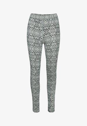 KAPAPPI  - Leggings - Trousers - black/white paisley print