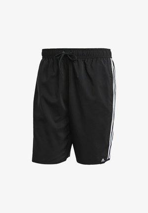 3 STRIPES CLASSICS PRIMEGREEN SWIM SHORTS - Swimming shorts - black/white