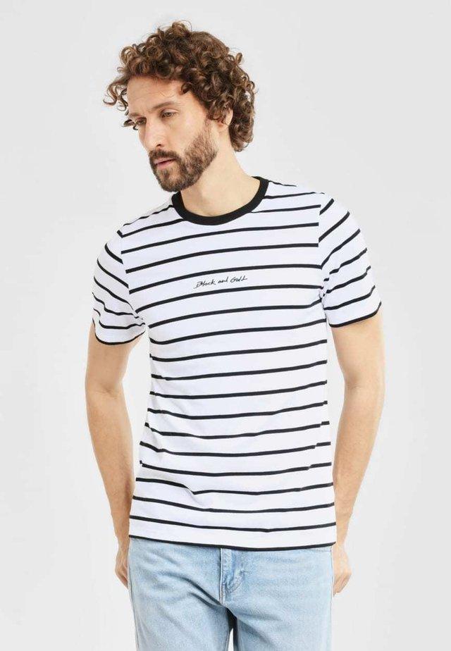 BANDANERA - T-shirt print - white/black