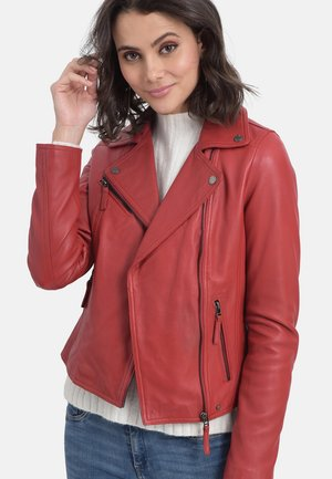 CLIPS - Leather jacket - red