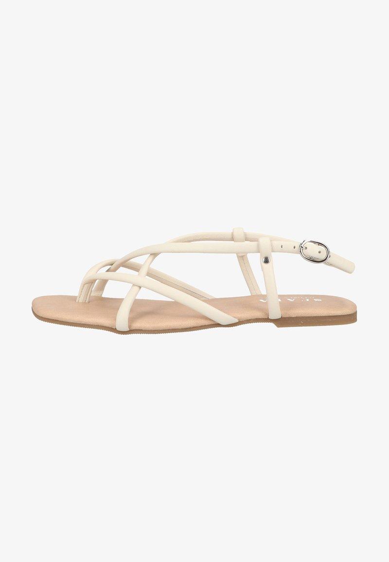 Scapa - T-bar sandals - ecru